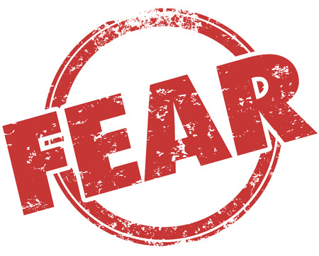 Fear Afraid Anxiety Stamp Word Illustration