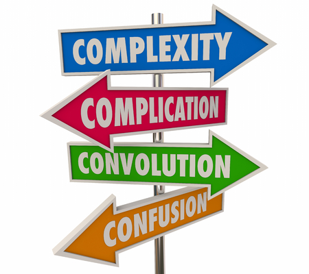 Complexity Complications Arrow Signs 3d Illustration Stock Photo