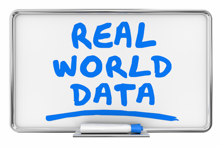 Real World Data Analysis Info Dry Erase Board Words 3d Illustration