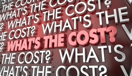 Whats the Cost Price Money Words 3d Illustration 写真素材