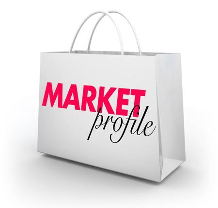 Market Profile Business Analysis Shopping Bag 3d Illustration 写真素材
