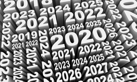 2020 Years Numbers Collage 3d Illustration