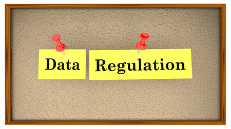 Data Regulation Bulletin Board Words 3d Illustration 스톡 콘텐츠 - 115910420