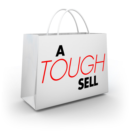 A Tough Sell Difficult SaleShopping Bag 3d Illustration