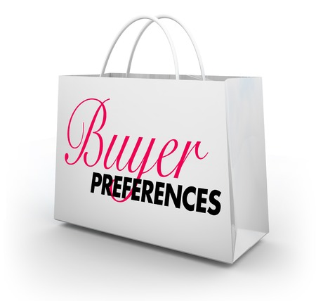 Buyer Preferences Likes Popularity Shopping Bag 3d Illustration Banque d'images - 116266400