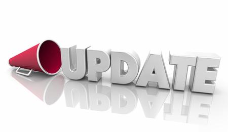 Update News Information Megaphone Bullhorn Word 3d Illustration Stock Photo
