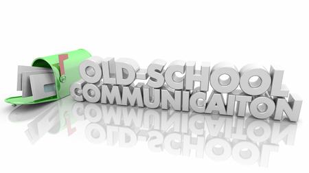 Old-School Communication Mailbox Word 3d Illustration