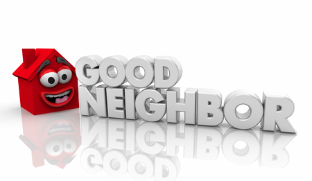 Good Neighbor Helpful House Word 3d Illustration