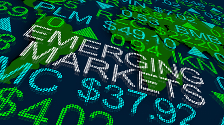 Emerging Trends Stock Market Global Business Growth Ticker 3d Illustration