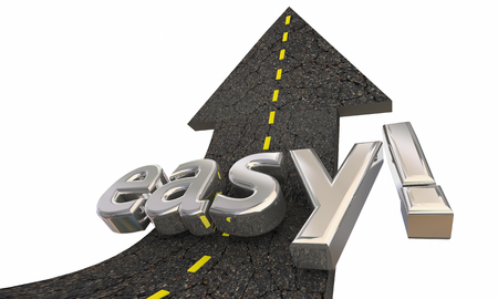 Easy Simple Fast Road Arrow Up Success 3d Illustration
