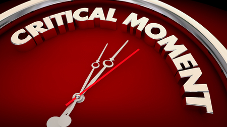 Critical Moment Emergency Crisis Important Clock 3d Illustration Stock Photo