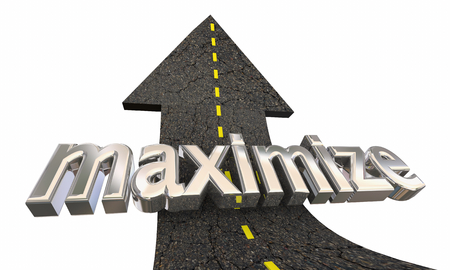 Maximize Increase Higher Road Arrow Up Success 3d Illustration Foto de archivo - 117305428