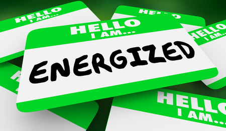 Energized Active Energy Hello I Am Name Tag 3d Illustration