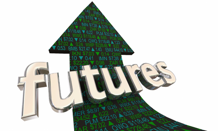Stock Futures Market Prices Before Bell Opening Arrow 3d Illustration