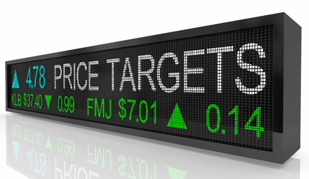Price Targets Stock Market Ticker Box 3d Illustration 版權商用圖片