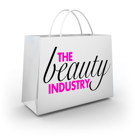 The Beauty Industry Cosmetics Make Up Style Shopping Bag 3d Illustration