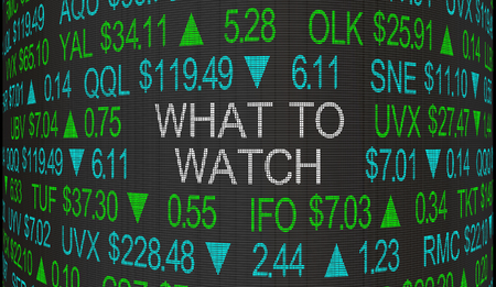 What to Watch Stock Market Big News Ticker 3d Illustration Standard-Bild - 117305553