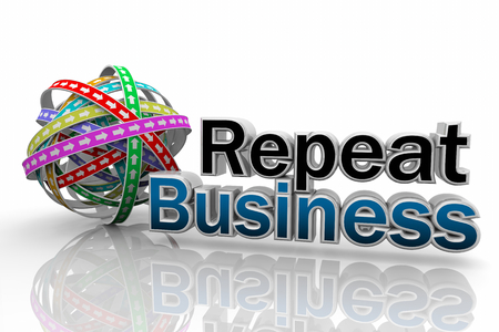 Repeat Business Customer Endless Cycle 3d Illustration Stock Photo