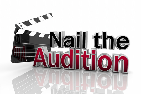 Nail the Audition Movie Clapper Film Tryout 3d Illustration