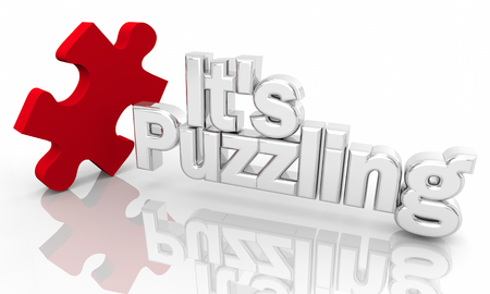 Its Puzzling Piece of Puzzle Mystery Words 3d Illustration Stock Photo