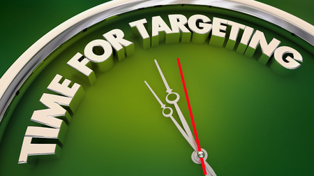 Time for Targeting Customer Marketing Clock Words 3d Illustration