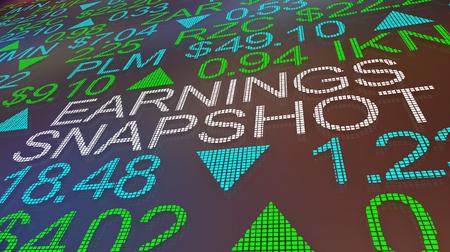 Ilustración 3d de ganancias instantáneas de ganancias comerciales del mercado de valores