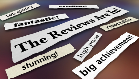 The Reviews Are In Raves Feedback Headlines 3d Illustration