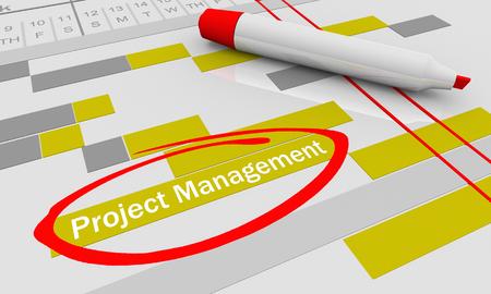 Project Management Tracking Gantt Chart 3d Illustration