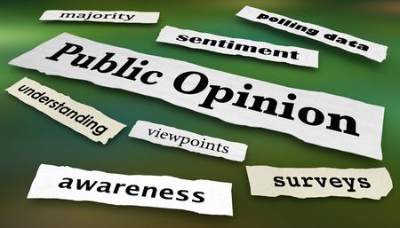 Public Opinion Surveys Polls Headlines 3d Illustration