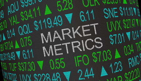 Market Metrics Measure Growth Stock Investments 3d Illustration