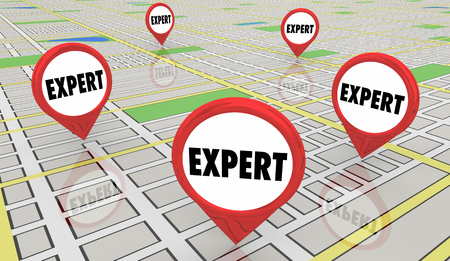Expert Help Service Providers Map Pins 3d Illustration
