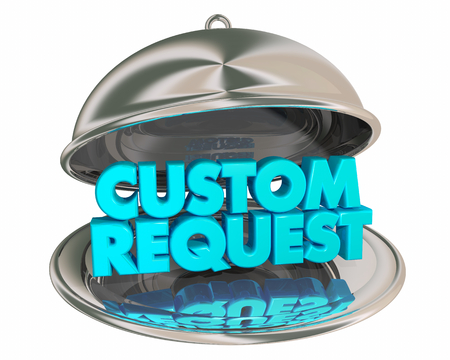 Custom Request Special Order Dinner Platter Plate Words 3d Illustration
