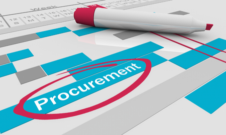 Procurement Purchasing Stage Gantt Chart 3d Illustration Stock Photo