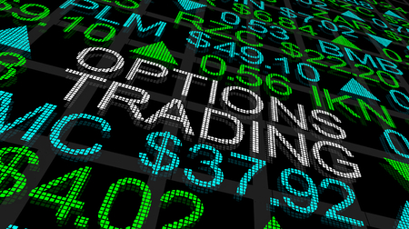 Options Trading Stock Market Ticker 3d Illustration