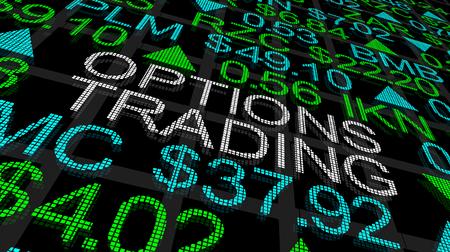 Options Trading Stock Market Ticker 3d Illustration Reklamní fotografie
