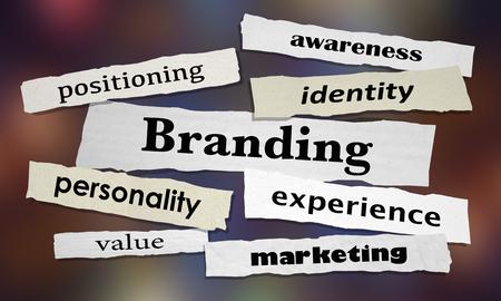 Branding Marketing Awareness Experience News Headlines 3d Illustration