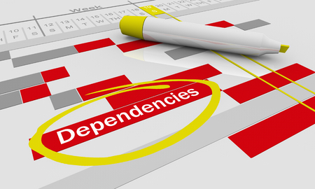 Dependencies Effects Results Tracking Chart 3d Illustration