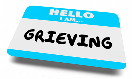 Grieving Process Grief Name Tag 3d Illustration Stock Photo