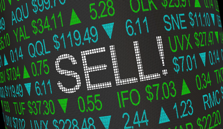 Sell Order Stock Market Ticker 3d Illustration
