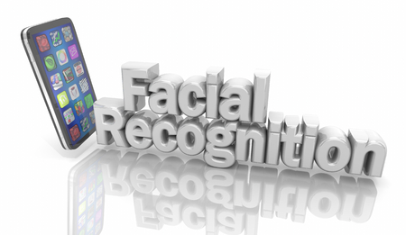 Facial Recognition Cell Phone Technology Security 3d Illustration Banque d'images - 118571175