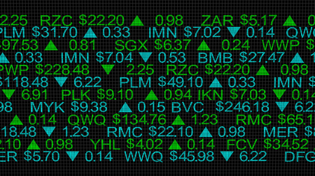 Stock Market Scrolling Prices Ticker 3d Illustration