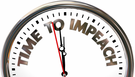 Time to Impeach Clock Words 3d Illustration