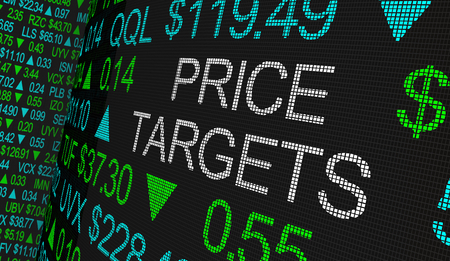 Price Targets Expected Results Stock Market Ticker 3d Illustration