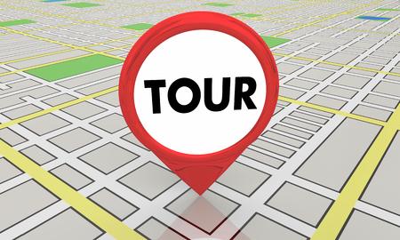 Tour Guide Adventure Travel Spot Map Pin Location 3d Illustration