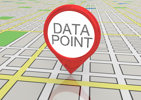 Data Point Demographic Subject Map Pin 3d Illustration Banque d'images