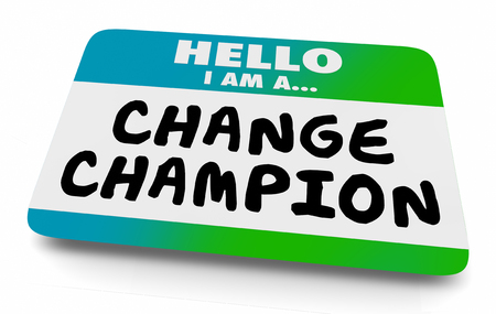 Change Champion Agent Name Tag 3d Illustration