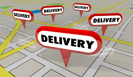 Delivery Map Locations Pin Marker Special Service 3d Illustration