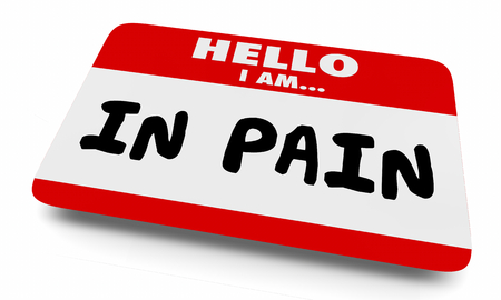 In Pain Hurting Injury Illness Name Tag 3d Illustration