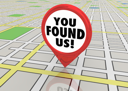 You Found Us Search Locate Find Map Pin 3d Illustration