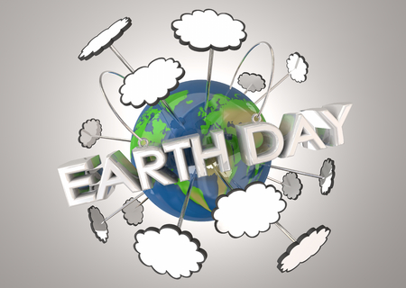 Earth Day Celebrate Event Environment 3d Illustration